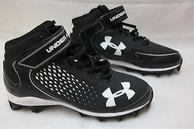Under Armour Kids/' 1237854-011 Highlight RM Football Cleat Blk//White I31 NEW