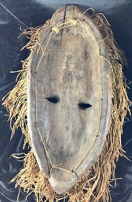 """Huge Chokwe Mask Angola Zambia Congo Fang African Wood Carved Antique 17"""""""