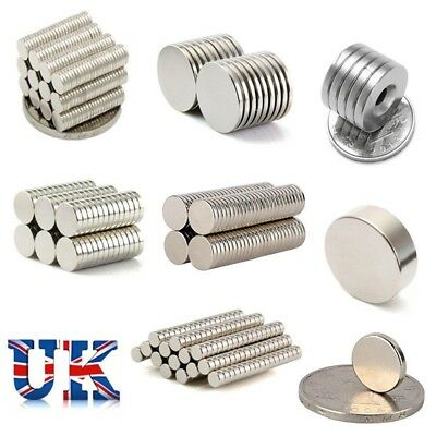 Super Neodymium Magnet N35 Block Square/Round Disc Rare Earth Craft Disk UK Sell