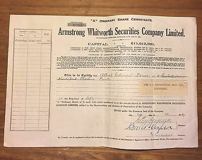 1929 Armstrong Whitworth Securities Company