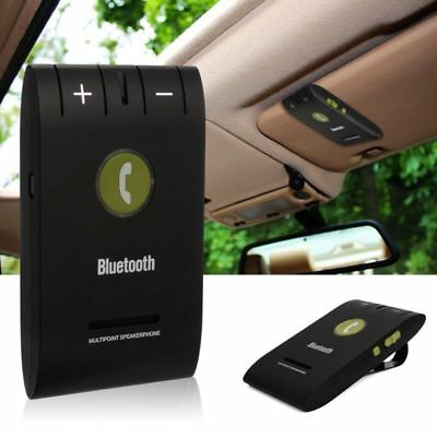 Wireless Handsfree Car Kit for iPhone Android Bluetooth Speaker Phone Visor Clip