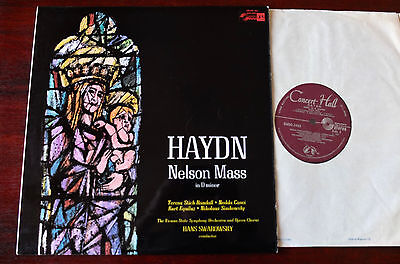 Sms-2483 Haydn Nelson Mass Lp Swarovsky Nm Concert Hall (1968) England