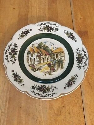 Ascot Service Plate Wood and Sons England Decorative 10 1/2""