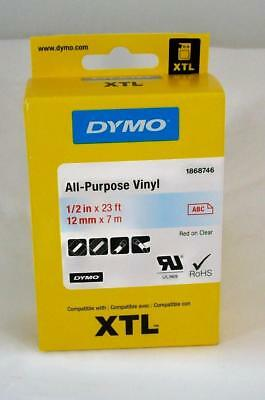New DYMO XTL Label Cartridge 1868746 - All Purpose Vinyl Label - 1/2 in x 23 ft
