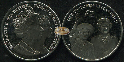 British Indian Ocean Territory. 2 pounds. 2012 (Coin KM#7. Unc) Queen Mother