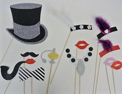 Photo Booth 1920 Inspired Great Gatsby Photo Booth Party Props Mustache on a Sti