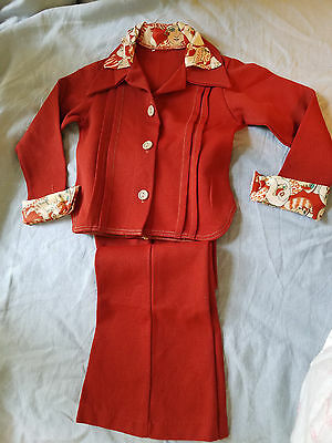 vintage children's pantsuit 1970's knit polyester Saturday Night Fever!