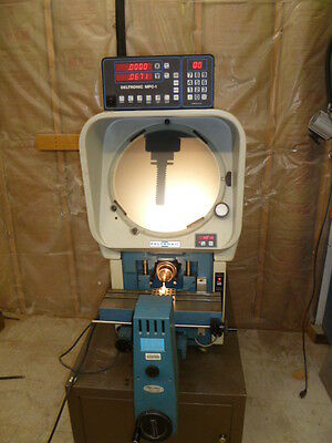 OPTICAL COMPARATOR DELTRONIC DH14 with QUADRACHEK ll OR QC2000 DIGITAL READOUT