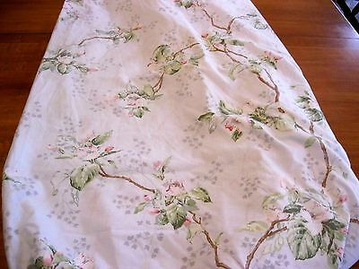 Vintage Springmaid Wondercale Full/Double Fitted Pink Paper Roses on Blue NICE