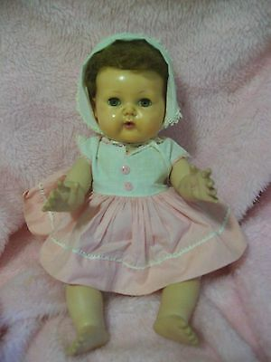 Vintage 15  american character tiny tears doll  rock a bye eyes  original clothe