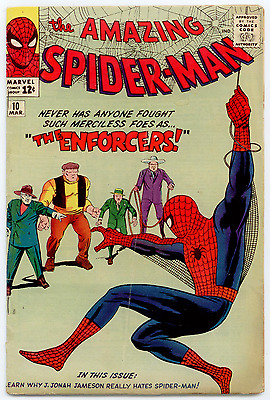 Amazing Spider-Man  #10 VG- 3.5  1st app of Big Man and the Enforcers