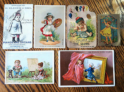 Mixed Lot of 6 Antique 1800's Advertisements~One has Unopened Sewing Needles!