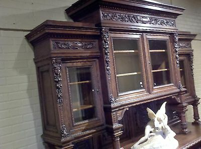 Beautiful Antique French Buffet and Hutch