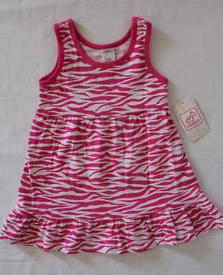NEW Baby Girls Sleeveless Dress 12 Months Infant Party Outfit Pink Zebra Striped