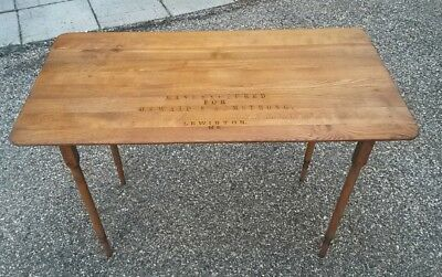 Vintage Antique Lewiston Maine Sewing Table Wood Stand Folding patio plant stand