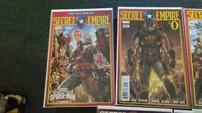Marvel Comics Secret Empire Issues Free,0,1,2,3,4,5 With Hologram Card Vf/nm