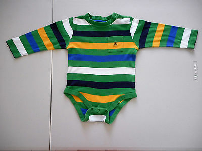 Baby Gap 18 - 24 months one piece Size 1 - 2 green white blue yellow long sleeve