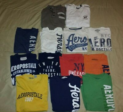 Lot of 13 Mens Aeropostale Pullovers & T Shirts Tees Size M Medium & L Large
