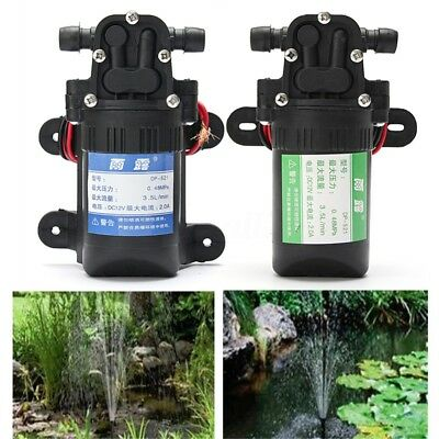 12V 3.5L/min Diaphragm High Pressure Water Pump Self-Priming For RV Boat AU