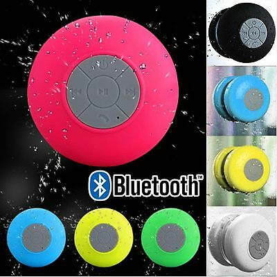 Waterproof Wireless Bluetooth Handsfree Mic Suction Shower Speaker Car Stereo PY