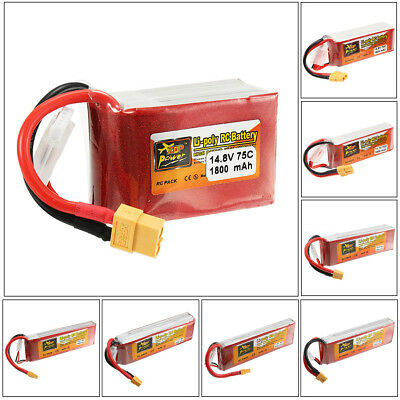 ZOP Power 7.4V-14.8V 1600mAh-6000mAh 2S-4S XT60 Lipo Battery For RC Helicopter