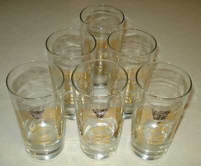 ~~RARE Vintage 6 Squirt Triple Crown Classic Glasses set ~~Employee Exclusive?~~
