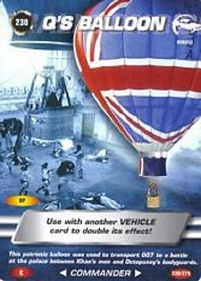 James Bond 007 Spy Card Q'S BALLOON Trading Card  Number 230  COMMON   Octopussy