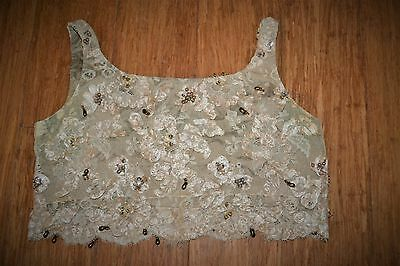 1900's Antique ladies lace and beaded top. Hand made.