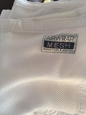 White Airwrap Mesh Cot Bumper Breathable 4 Sides (4 Pieces) Pick Up Camp Hill
