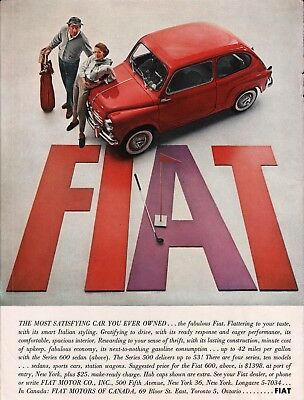 1959 Fiat Red The Most Satisfying Car You Ever Owned Series 600 Sedan Print Ad