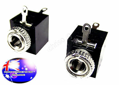 """From OZ Quality 2PC 3.5mm Terminal Solder Replacement 1/8"""" Female Jack Socket T7"""