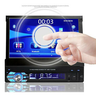 HD 7'' Touch Screen 1Din Single Car DVD MP5 AUX Player Bluetooth Stereo Radio