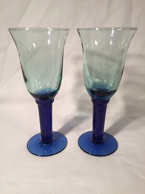 Pair of glass wine picclick uk - Wine glasses with thick stems ...