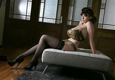 C #109 Tanya Song stockings 12x8inch approx A4 glossy photo
