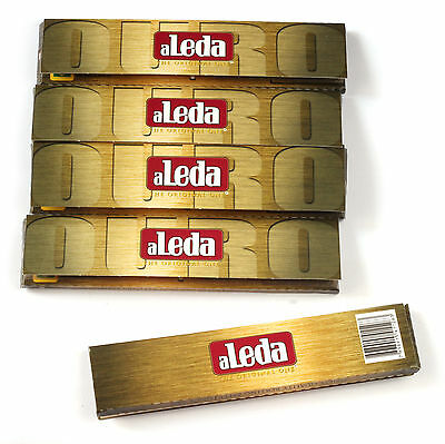 5 booklets - aLeda OURO King Size Slim - famous paper from Brazil - 165 papers