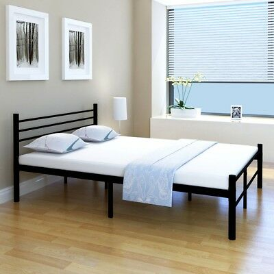 metallbett doppelbett schlafzimmer bettgestell mit. Black Bedroom Furniture Sets. Home Design Ideas