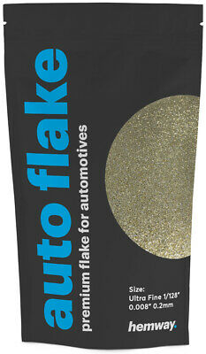 Hemway Silver & Gold Auto Car Glitter Paint Spray Metal Flakes 100g (0.008)