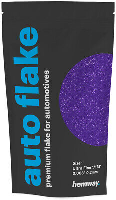 "Hemway Purple Metal Flake Auto Car Bike Glitter Paint 0.008"" 200 micron 100g"
