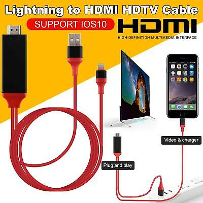 2M 8 Pin Lightning iPhone to HDMI TV AV 1080p Cable for iPad iPhone 6 6S 7 7Plus