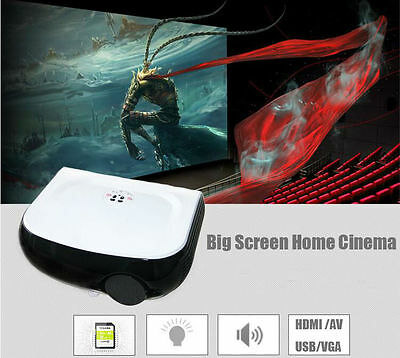 W1 Portable LED Projector Home Theater 2200 Lumens 1080P Multimedia Player