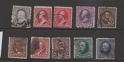 USA USED STAMPS scott 220-227 $90 143 0317