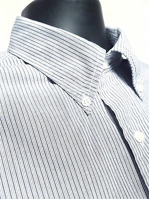 BROOKS BROTHERS Dress Shirt for Men - Long Sleeve Blue/ White Stripe Size 16 /33
