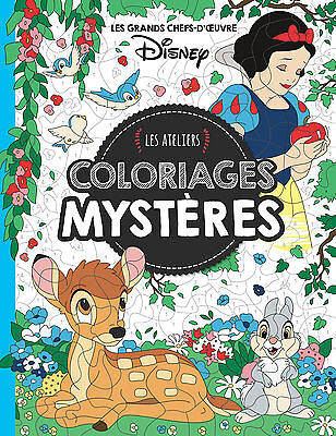 Disney Adult Colouring Book French By Numbers Fun Princess Fairytale Animals Art