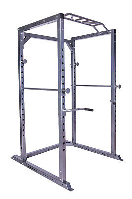 Total Body Base Power Rack Olympic Squat Cage Machine Pull Up Dips Home Gym