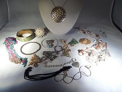 Vintage to Now Damaged Jewelry Lot for Parts Repairs or Crafting P5