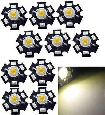 10x Hi-Power LED 1W warmweiß STAR 3000-3500K  -110lm