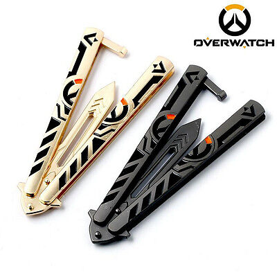 Overwatch New Tactical Trainer Knife Retro Practice BALISONG Stonewash BUTTERFLY