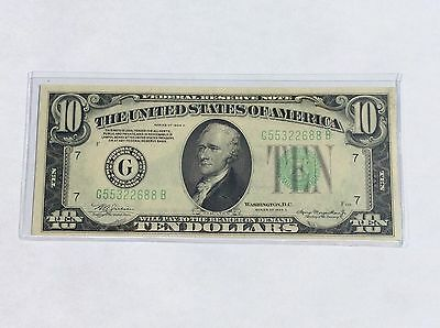 1934 A $10 Federal Reserve Note Chicago UNC