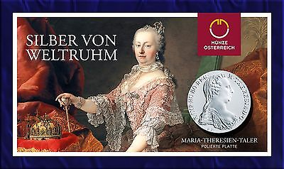 1780 Maria Theresia Thaler Proof Restrike in Vienna Mint Blisterpak
