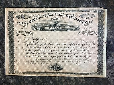 18-- CAPITAL STOCK Certificate LAKE SHORE RAILROAD COMPANY Ohio OH First Series